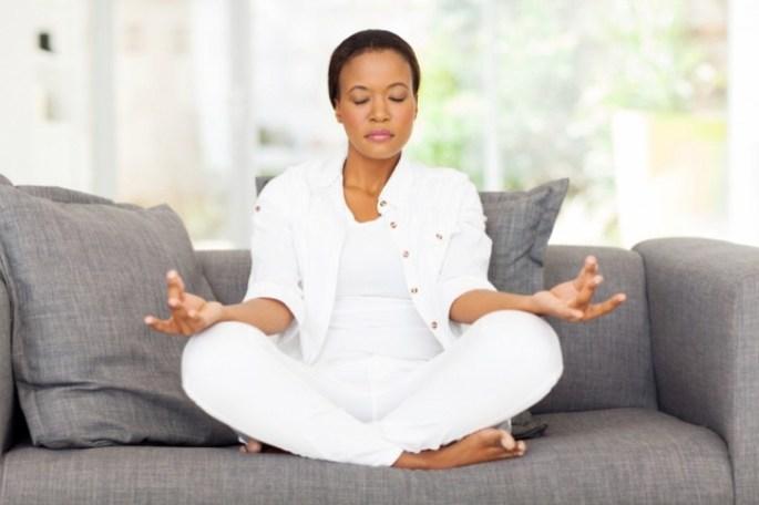 black meditator